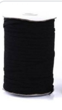 6mm General Elastic Black per metre