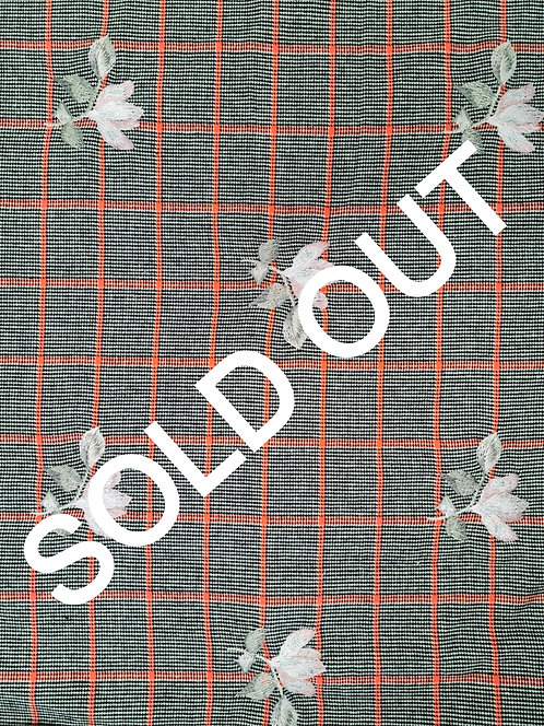 Embroidered Wool Coating