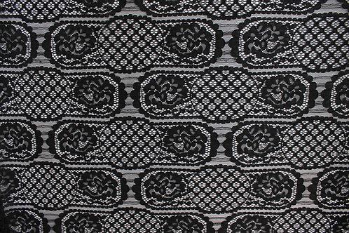 Black Brugge Lace Panel