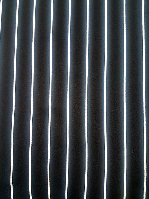 Stripe Polyester Georgette Black