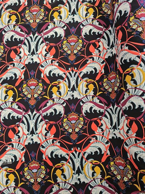 Baroque Polyester Crepe De Chine