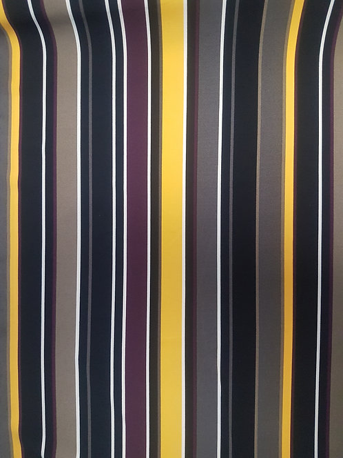 Multi Stripe Crepe Yellow