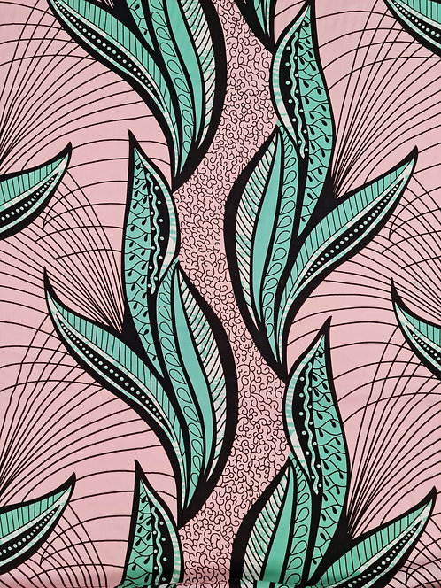 Leafy Rayon Print Pink