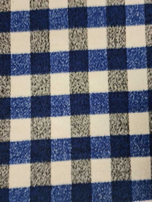 Barry Wool Mix Check Blue