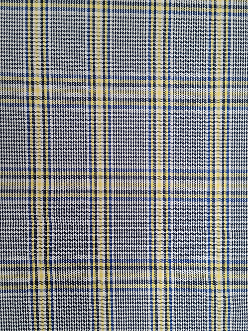 Checkers Cotton Viscose Mix Suiting