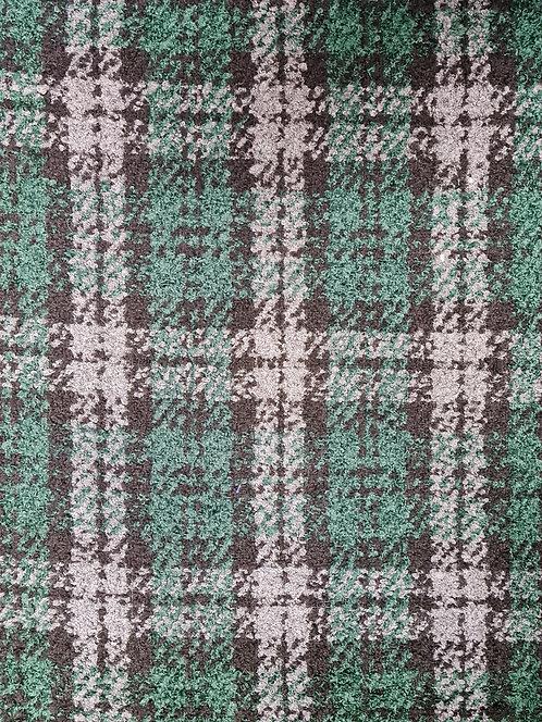 Check Wool Mix Boucle Coating