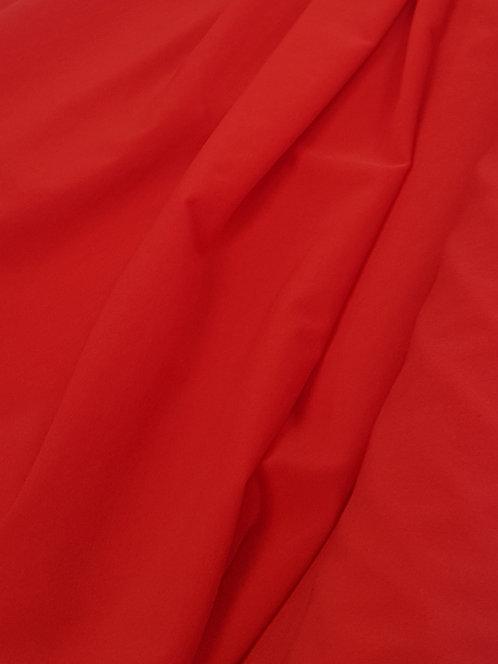 Stretch Crepe De Chine Red