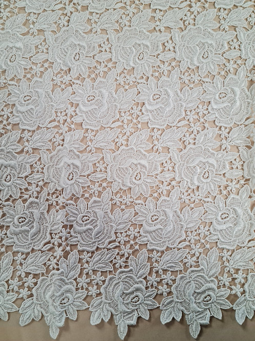 Old Rose Guipure Lace Ivory