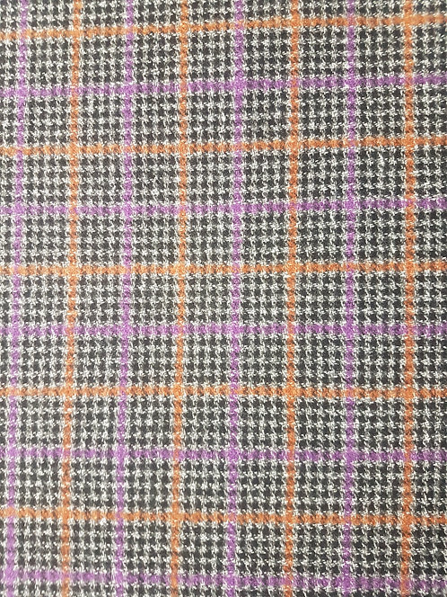 Wool Mix Checked Coating