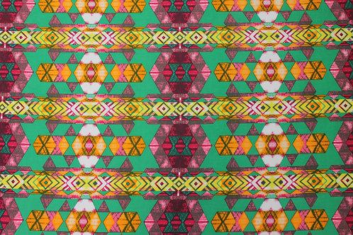 Green Geo-Tribal Print