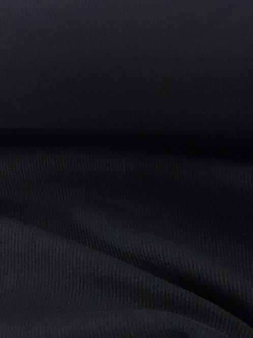 Cotton Rib Knit Black