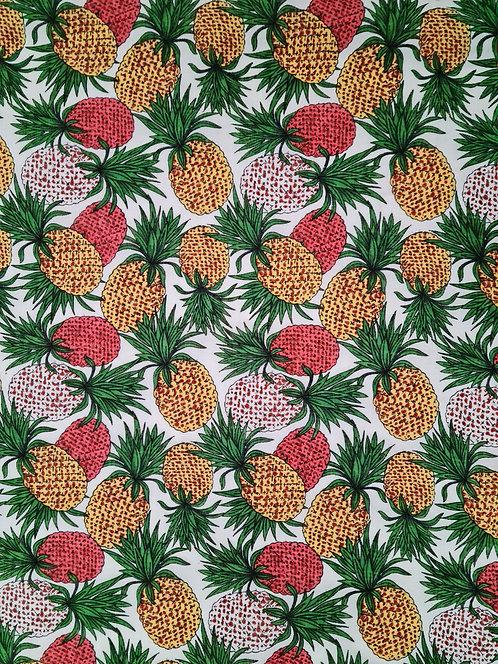 Pinapple Crush Cotton White