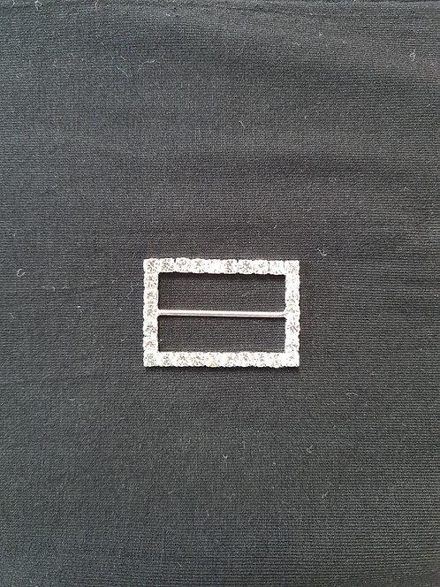 Rectangle diamante Buckle 4cm Long