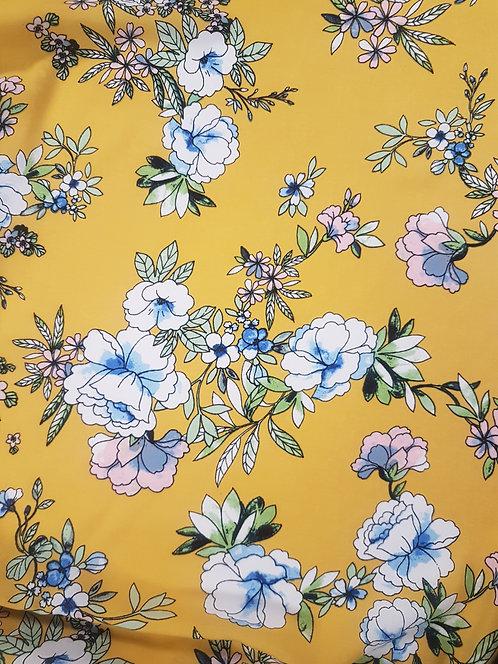 Floral Pastel Rayon Yellow