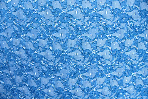 Bright Blue Corded Lace