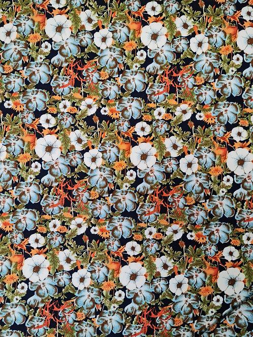 Retro Floral Rayon