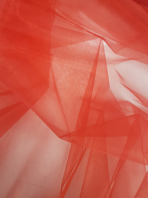 Organza Polyester  Red