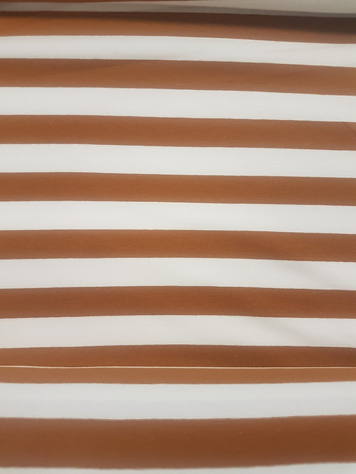 Super Stripe Cotton Knit  Mustard/White