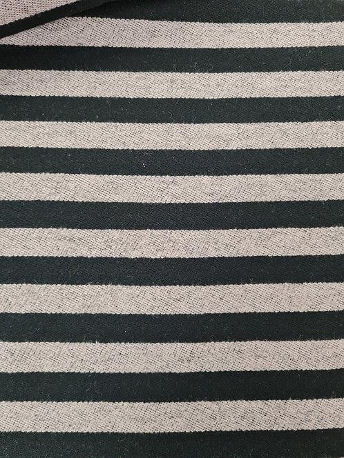 Brushed Stripe Knit Black/Grey