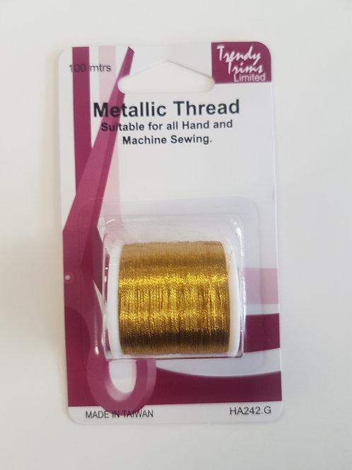 Metallic Thread Gold