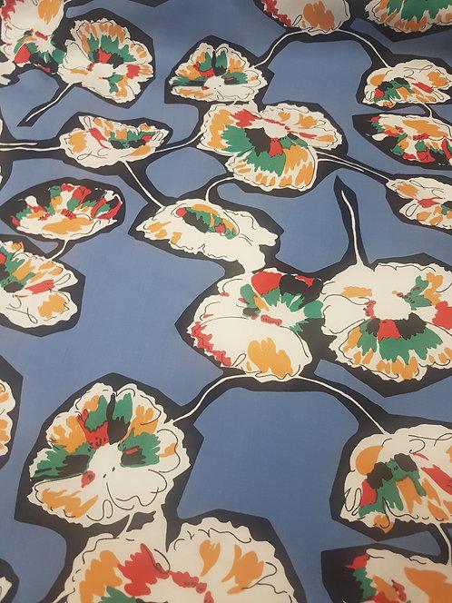 Abstract Poppy Cotton Poplin