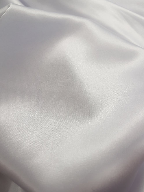 Silky Stretch Satin White