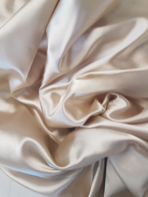 Silky Stretch Satin Champagne