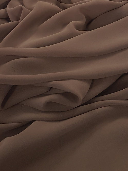 Polyester Chiffon Milk Chocolate