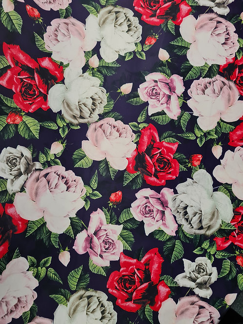 Full Bloom Cotton Polyester Sateen