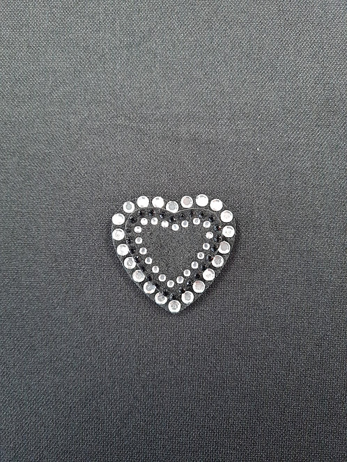 Diamante Double Heart Motif