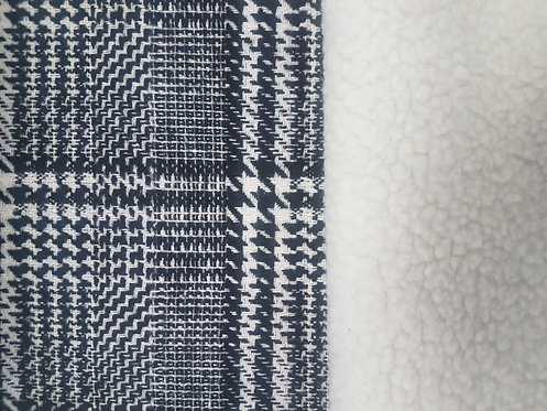 Houndstooth Shirling Double Sided Coating