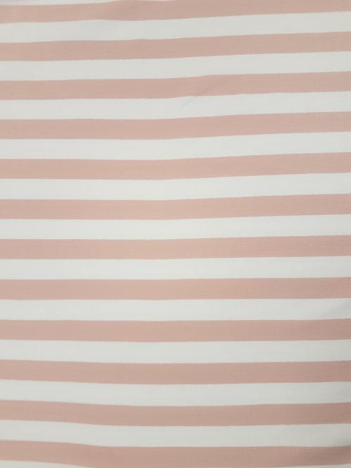 Stripe Cotton Knit Blush/White