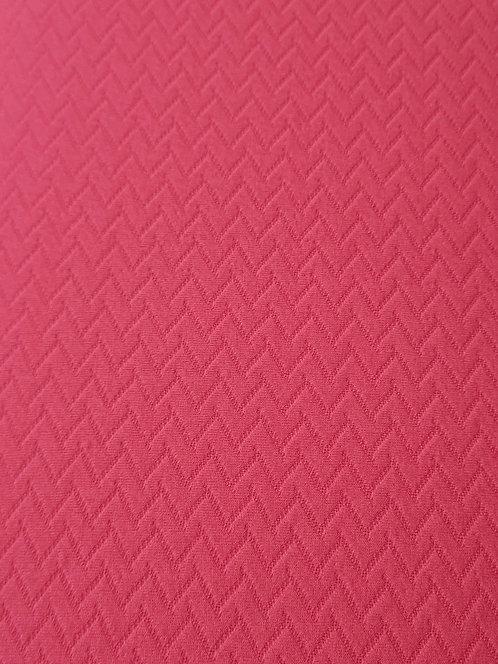 Fluro Pink Zig Zag Polyester Knit