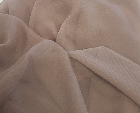 Textured Crushed Polyester Chiffon Taupe