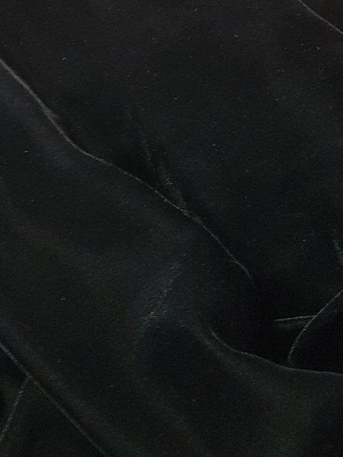 Silk Viscose Velvet Black