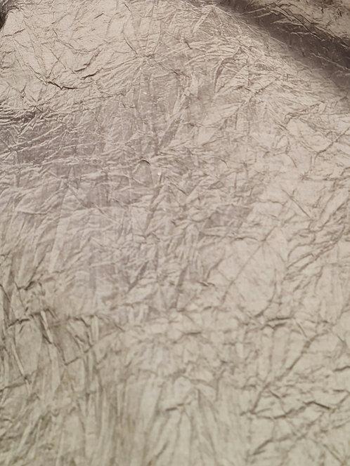 Designer Prints Crushed Dupion Silk Old Gold