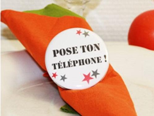 """Rond de serviette """"téléphone"""""""