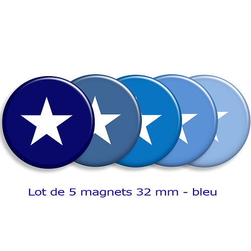 "Lot de 5 magnets ""étoiles"""