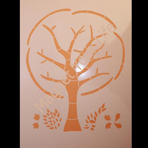 Pochoir arbre rond