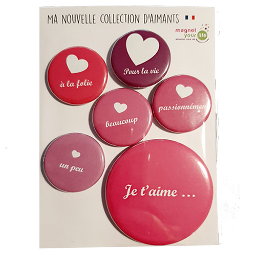 Magnets je t'aime