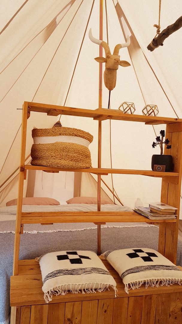 wardrope glamping tent