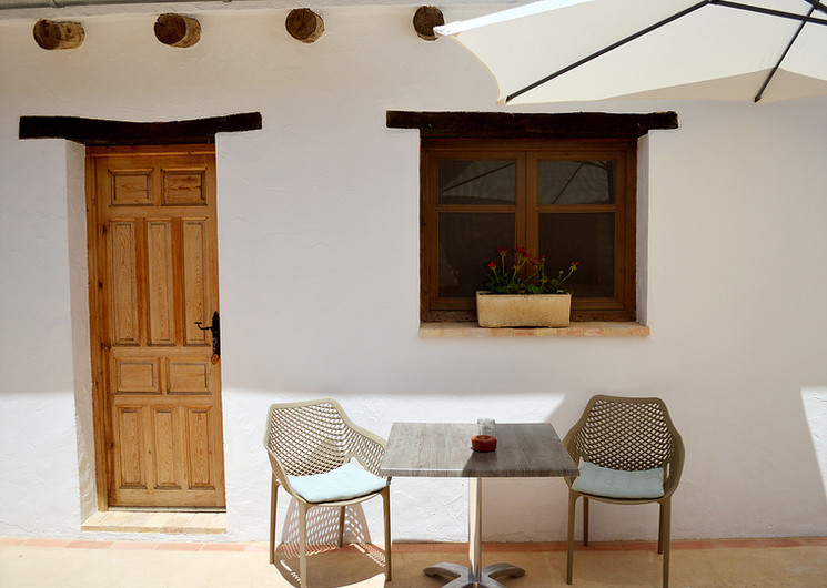 terrace 2 person room in courtyard