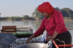 Ferry sur l'Irrawaddy, Birmanie