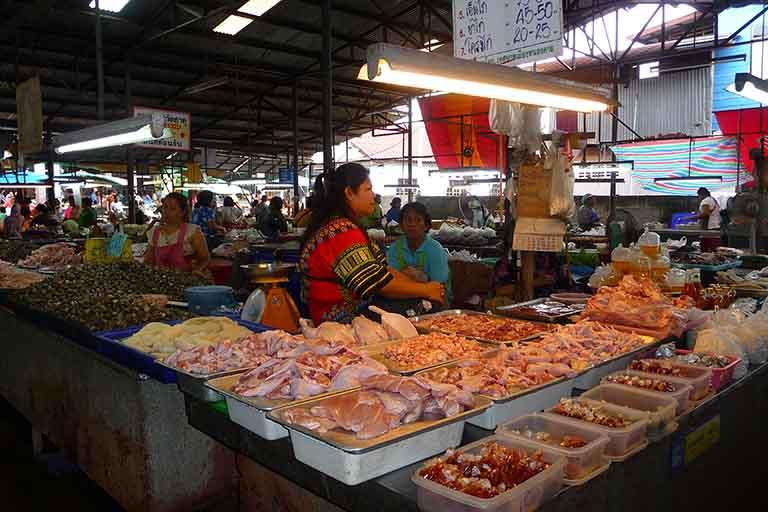 Marché de Nong Khaï, Thaïlande