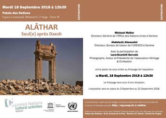 Exposition ALÂTHAR, Seul(e) après Daesh au Palais des Nations à Genève