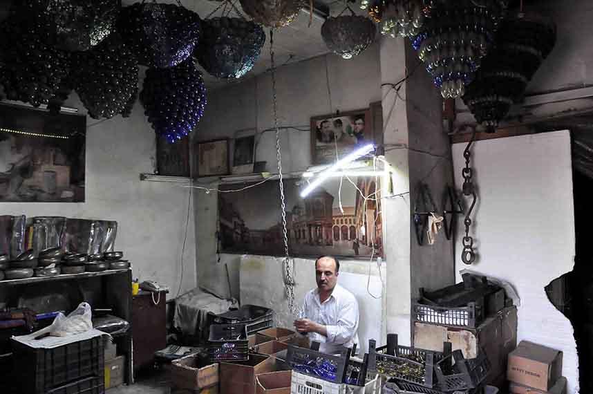 Souffleur de verre, Damas, Syrie