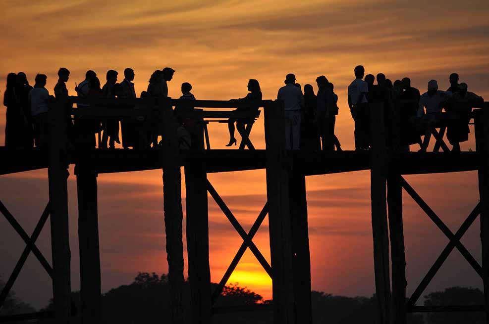 Pont d'U Bein, Amarapura, Birmanie