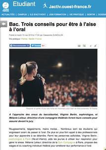 Article Ouest France 2018_oral du BAC p1