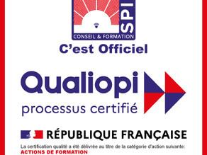 Notre certification Qualiopi !