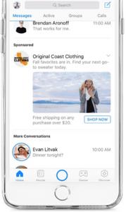 Messenger chatbot messaging screenshot